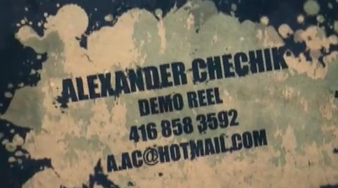 Alexandr Chechik Demo Reel
