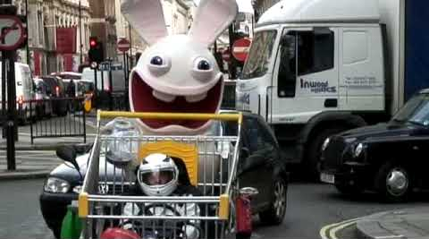 Rabbids Go Home Promotion in London
